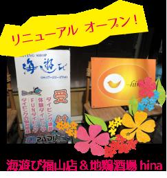 海遊び 福山店 &地鶏酒場 hina