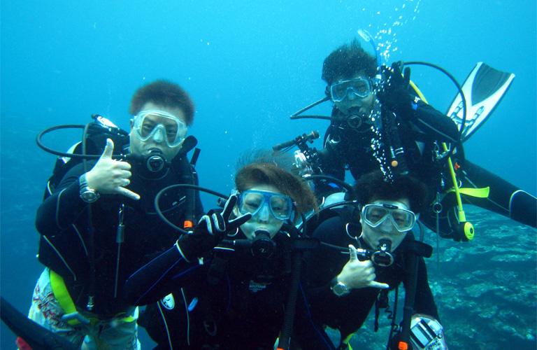 ダイビング免許取得、海洋講習で最後のダイビング!!