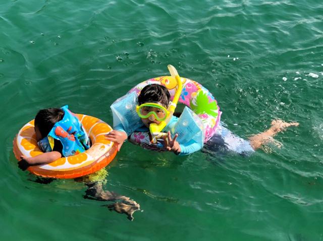 体験ダイビング海遊び4
