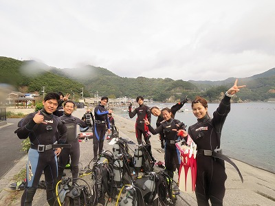 1月19日(日)『西海のビーチダイビング!』で、肩慣らしダイビング!!ボートダイビングも大募集!!(^^)/のイメージ