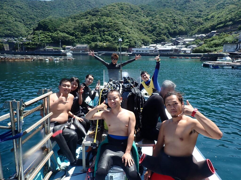 9月2日(土)日帰り【☆愛南!】まだまだウエットスーツでダイビング可能!海の中の方が温かいかも(笑)のイメージ